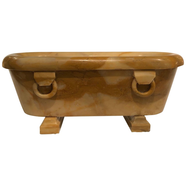 Antique 19th Century Italian Grand Tour Siena Marble Model of a Roman Bath For Sale