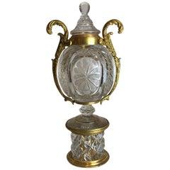 Crystal and Ormolu French Centrepiece Vase, circa 1890