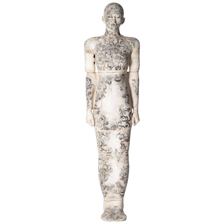Zeitgenössische Lebensgroße Keramik Figur einer Frau von Dora Várkonyi 1