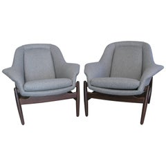 Pair of Midcentury George Tanier Selection Danish Lounge Chairs