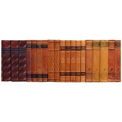 Early 20th Century Leather Bound Library Books Series 42