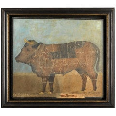 Butcher's Sign Bull Standing Four Square
