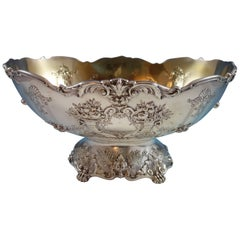 Francis I by Reed & Barton Sterling Silver Centrepiece or Fruit Bowl Gold Washed