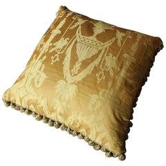 Fine 19th Century French Silk Damask Cushion