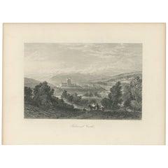 Antique Print of Balmoral Castle by J. Godfrey, circa 1875