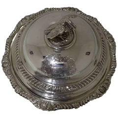George IV Sterling Silver Antique Large Entree Dish and Cover Richard Sibley