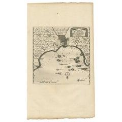 Antique Map of Batavia, Jakarta, Indonesia by P. Van Der Aa, 1719