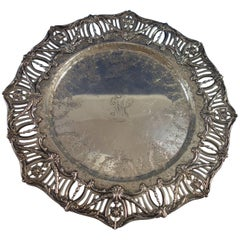 Pierced Border by J.E. Caldwell Sterling Silver Sandwich Platter
