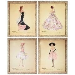 Robert Best Framed Barbie Collection, Set of Four