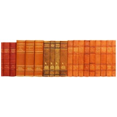 Early 20th Century Leather Bound Library Books Series 43
