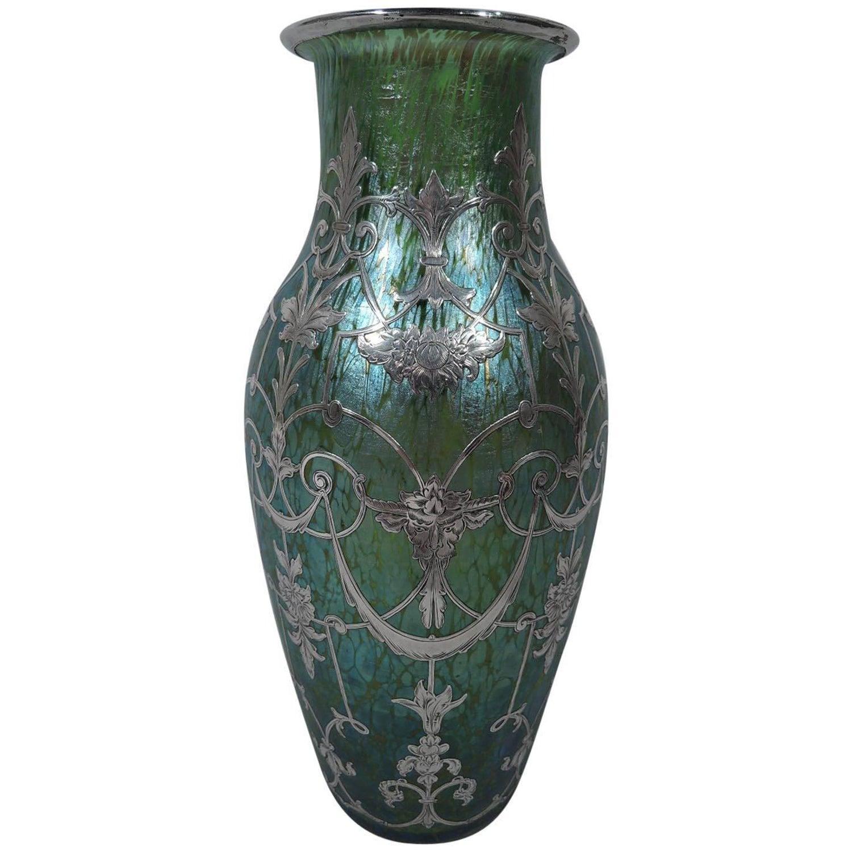 Loetz glass vases 77 for sale at 1stdibs antique loetz art glass vase with silver overlay reviewsmspy