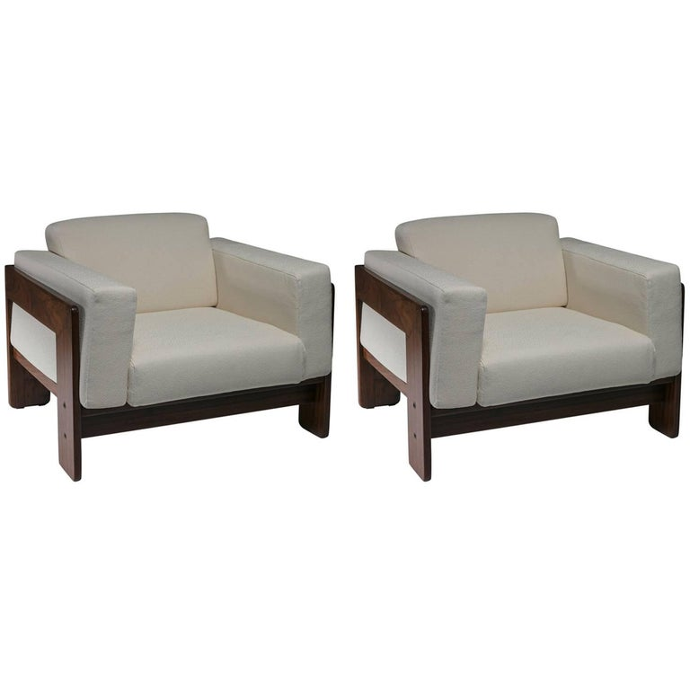 """Pair of """"Bastiano"""" Lounge Chairs by Tobia Scarpa for Gavina"""
