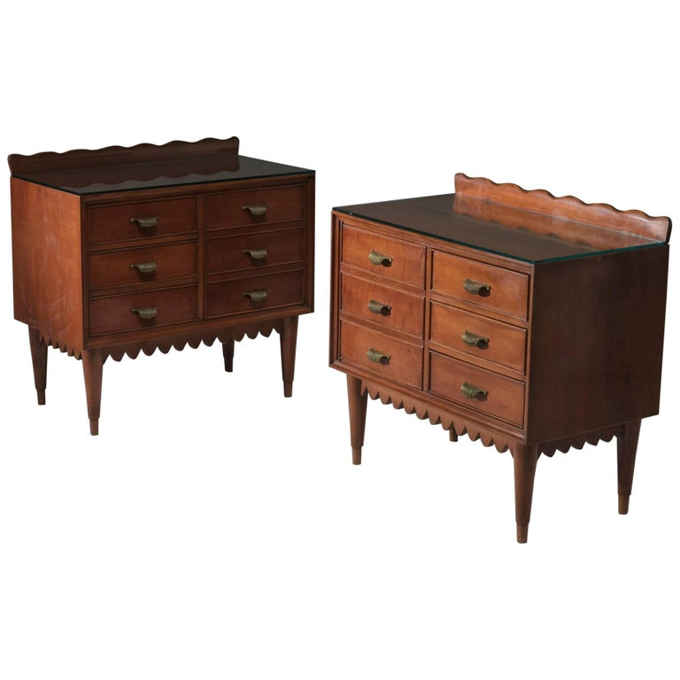 Pair of Wood Nightstands by Fratelli Barni