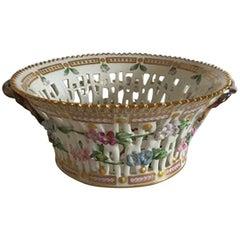Antique Royal Copenhagen Flora Danica Fruit Basket #3532