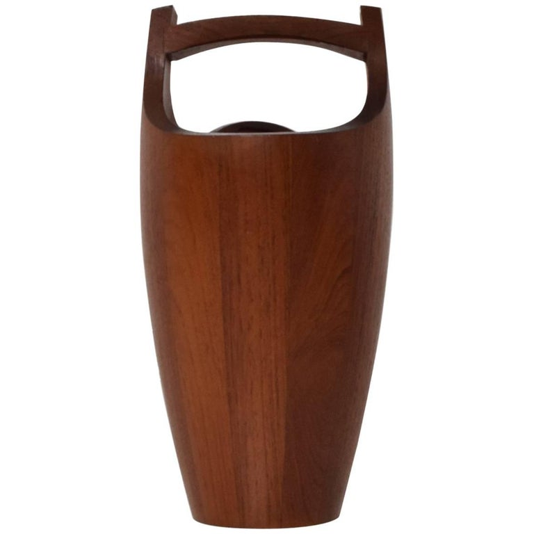 Mid-Century Modern Teak Ice Bucket by Dansk, Small For Sale