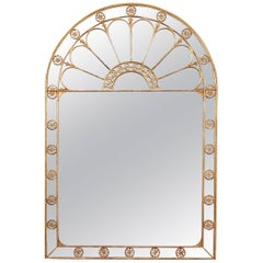 Early 19th Century Late Georgian Gilt Palladian Form Mirror