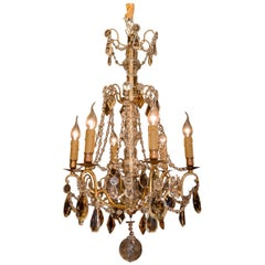 Late 19th Century Ormolu and Crystal Small Chandelier by Baccarat
