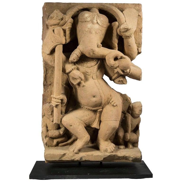 God Ganesha Stele. Uttar Pradesh, 10th - 11th Century For Sale