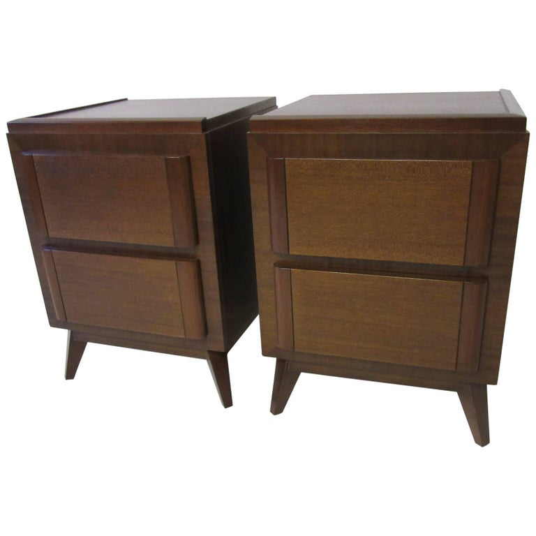 Eliel Saarinen Nightstands for R-Way Modern For Sale