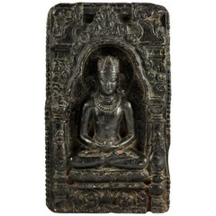 Plate with Buddha. Bengal, Pala - Sena Period 12th Century