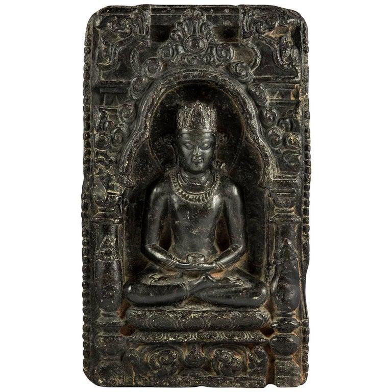 Plate with Buddha. Bengal, Pala - Sena Period 12th Century