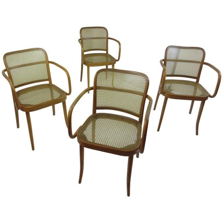 Josef Hoffman Prague 811 Arm Chairs by Stendig  For Sale