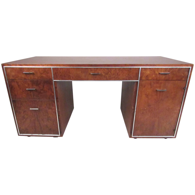 Vintage Modern Double Pedestal Desk