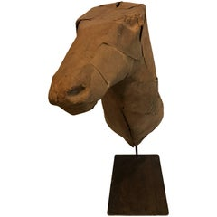 Early 20th Century Taxidermy Mold Horse Head