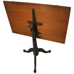 Late 19th Century Cast Iron Drafting Table