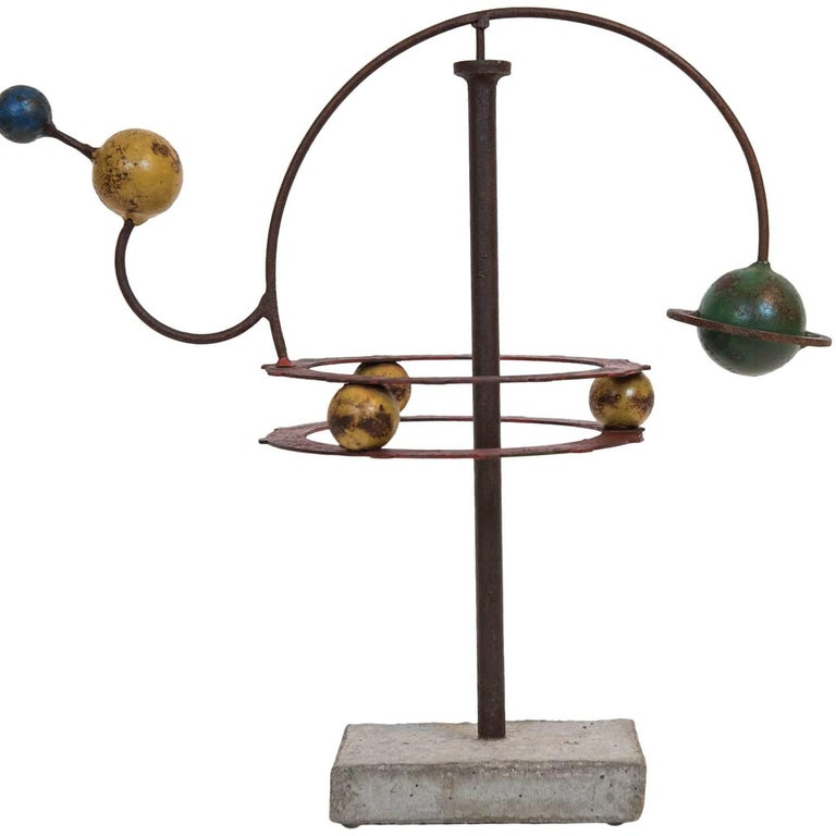 Painted Orrery Mobile Sculpture 1