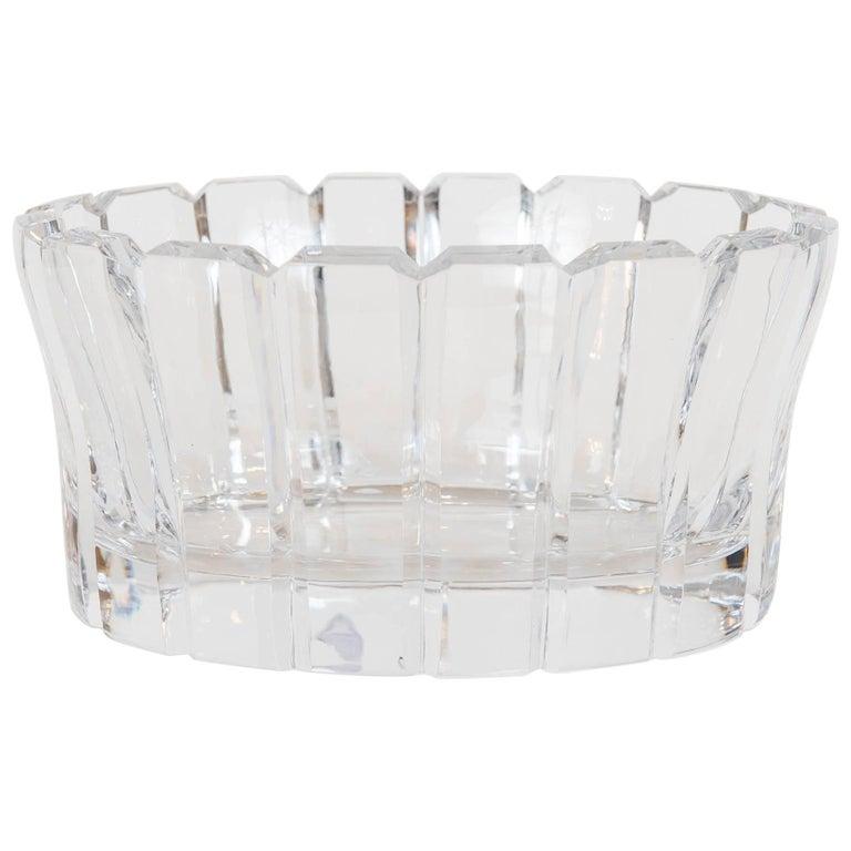 Vintage Crystal Bowl by Orrefors, Sweden For Sale