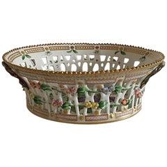 Antique Royal Copenhagen Flora Danica Fruit Bowl #3536