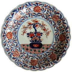 Mid-19th Century Japanese Porcelain Plate or Dish, Imari Hand Enameled