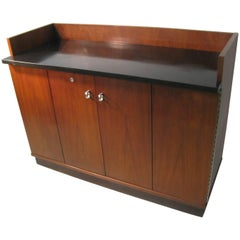 Mid-Century Modern Walnut Server Bar Cart American of Martinsville