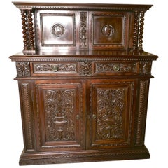 Green Man Gothic Carved Dresser by Edwards and Roberts