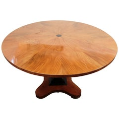 19th Century Biedermeier Pedestal Table or Center Table