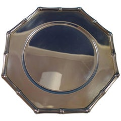 Bamboo by Tiffany & Co. Sterling Silver Charger Plate #23997 and Flannel