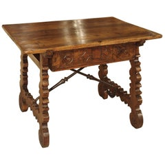 17th Century Walnut Wood Table from Northern Spain