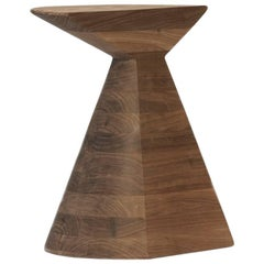 Walnut Hardwood Stool, Contemporary Mexican Design