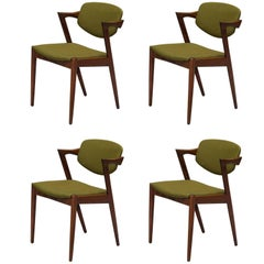 Set of Four Model 42 Rosewood Dining Chairs by Kai Kristiansen