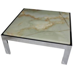 Steel and Marble Cocktail Table