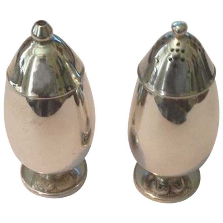 Georg Jensen Cactus Sterling Silver Salt and Pepper Shakers #629B