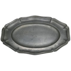 18th Century Pewter Platter