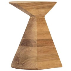 Large 'Ban' Stool in Tzalam Hardwood, Mexican Contemporary Design
