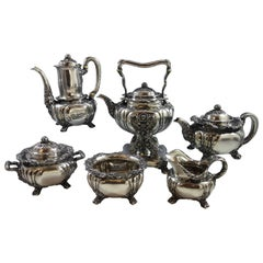 Chrysanthemum by Tiffany & Co. Sterling Silver Six-Piece Tea Set Hollowware