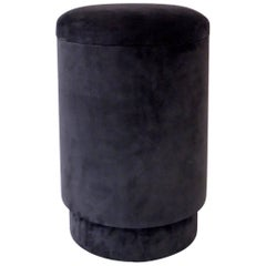 Michael Verheyden Tabou or Pouf with Storage in Gray Suede