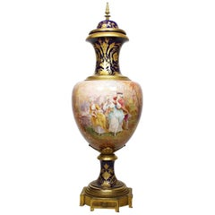 Fine French 19th Century Napoleon III Sèvres Style Porcelain Urn Signed Ch Fuchs