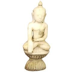 Alabaster Buddha Statue White Burma Shan Period, 17th Century