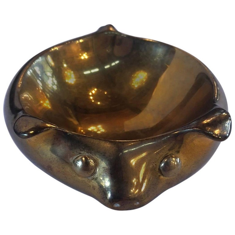 Jonathan Adler Brass Pig Bowl