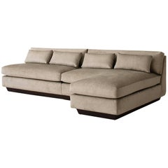 Contemporary Seefeld Chaise End Sofa, Custom and Made to Order by Dmitriy & Co